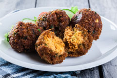 Chickpea falafel balls with vegetables Stock Image