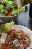 Chickpea Feta Salad. Chickpea and feta salad Stock Image