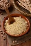 Chickpea flour in the bowl Stock Photos