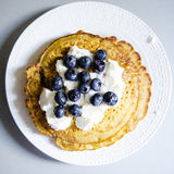 Chickpea flour pancakes Stock Photos
