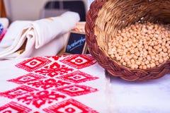 Chickpea or garbanzo beans Royalty Free Stock Photos