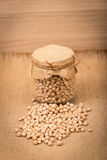 Chickpea in a glass jar Stock Photo