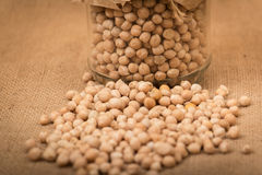 Chickpea in a glass jar Royalty Free Stock Photo