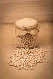 Chickpea in a glass jar Stock Photos