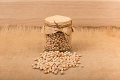 Chickpea in a glass jar Royalty Free Stock Photography