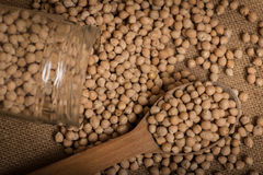Chickpea in a glass jar Royalty Free Stock Photos