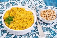 Chickpea naczynia tradycyjna Bliskowschodnia kuchnia Obrazy Royalty Free