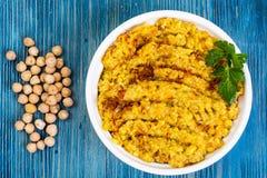 Chickpea naczynia tradycyjna Bliskowschodnia kuchnia Zdjęcia Royalty Free