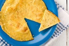 Chickpea Omelette Royalty Free Stock Images
