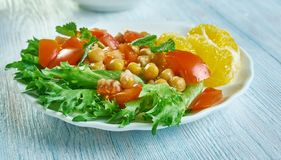 Chickpea Pancetta sałatka zdjęcie stock