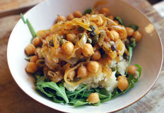 Chickpea Picatta Stock Images