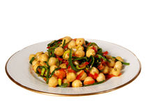 Chickpea salad Stock Image