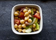 Chickpea salad on alittle bowl Royalty Free Stock Photos
