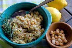 Chickpea Salad. Alternative to chicken salad Royalty Free Stock Photo