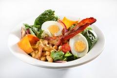 Chickpea salad bacon Stock Photo