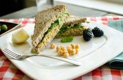 Chickpea Salad. Chieckpea salad sandwich, alternative to chicken salad Stock Images