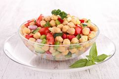 Chickpea salad Royalty Free Stock Images