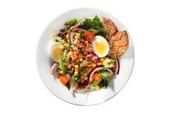 Chickpea salad egg Royalty Free Stock Photos