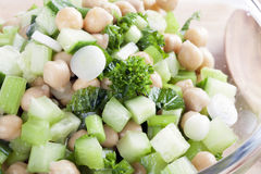 Chickpea Salad Mixture Stock Photo