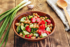 Chickpea salad Stock Photography