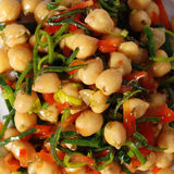 Chickpea sallad Royalty Free Stock Images