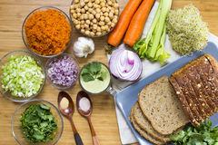 Chickpea Sandwiches Stock Images
