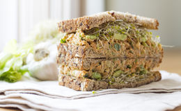 Chickpea Sandwiches Stock Photography