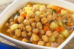 Chickpea Soup Royalty Free Stock Photography