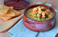 Chickpea soup Royalty Free Stock Photos