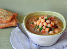 Chickpea soup Stock Photography