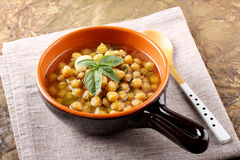 Chickpea soup on bowl Stock Images