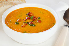 Chickpea Soup with Parsley Stock Photo