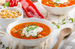Chickpea soup with pepper Royalty Free Stock Photo