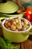 Chickpea soup on the table Stock Photography