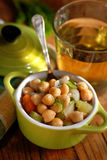 Chickpea soup on the table Royalty Free Stock Image