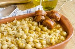 Chickpea stew Στοκ Φωτογραφίες