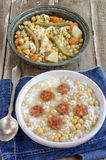Chickpea stew with rice Royalty Free Stock Photography