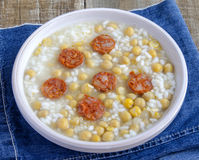 Chickpea stew with rice Royalty Free Stock Images