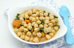 Chickpea stew with spinach Stock Image