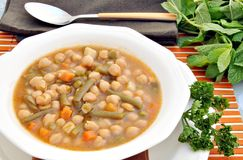 Chickpea stew with vegetables Royalty Free Stock Photos