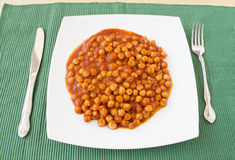 Chickpea with tomato Royalty Free Stock Photo