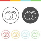 Chickpea vector icons. Vector set of chickpea icons in thin line style Stock Photos
