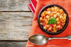 Chickpeas με τα λαχανικά και το pangasius Στοκ εικόνα με δικαίωμα ελεύθερης χρήσης