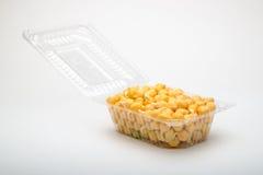 Chickpeas σε ένα πλαστικό κιβώτιο Στοκ φωτογραφία με δικαίωμα ελεύθερης χρήσης