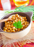 Chickpeas. In bowl, boiled Royalty Free Stock Image