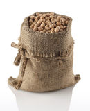 Chickpeas in a bag Royalty Free Stock Image