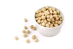 Chickpeas in a bowl Stock Photos