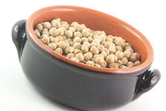 Chickpeas in bowl Royalty Free Stock Photos