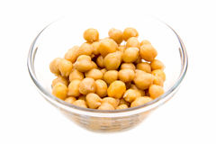 Chickpeas on bowl Royalty Free Stock Photo