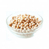 Chickpeas Bowl Isolated on White Stock Photos